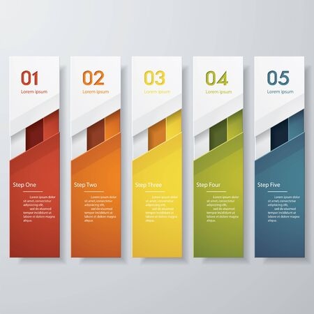 banner design: Design clean number banners template. Vector.