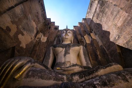 ajana: Ancient Pra Ajana statue at Sri Chum Temple. Stock Photo