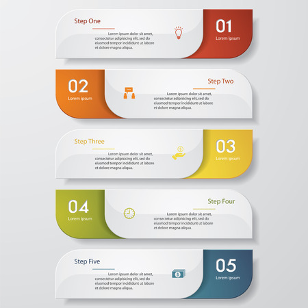 versions: Design clean number banners templategraphic or website layout. Vector.