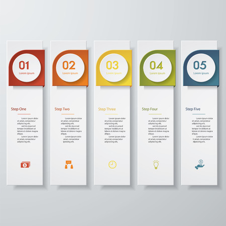 Design clean number banners templategraphic or website layout. Vector.