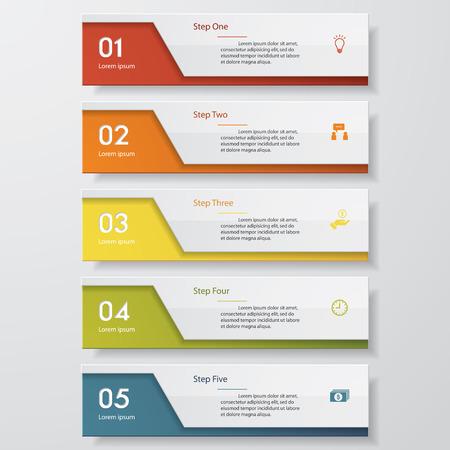 cuadrados: Diseño limpio plantilla número banners  gráfico o diseño web. Vector.