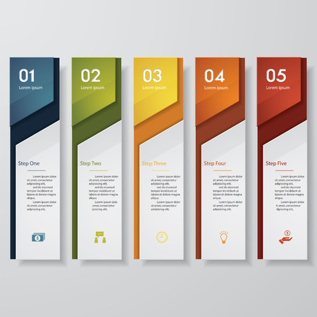 layout: Design clean number banners templategraphic or website layout. Vector.