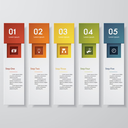 Design clean number banners template/graphic or website layout. Vector. Ilustração