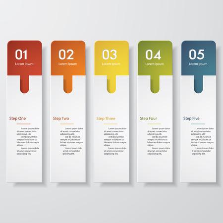 Ontwerpen schoon aantal banners template. Vector. Stock Illustratie