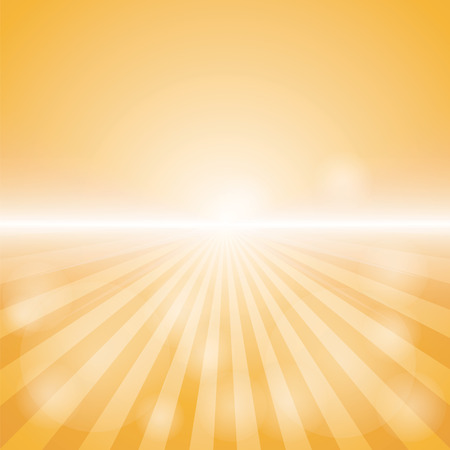 Empty Orange Color Background With Sunburst at the lower side. for sample text and editable background. Иллюстрация