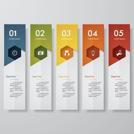 Diseño limpio plantilla número banners. Vector. Foto de archivo - 38161930