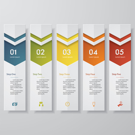 clean: Design clean number banners template. Vector.