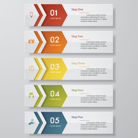 origami numbers: Design clean number banners template. Vector.