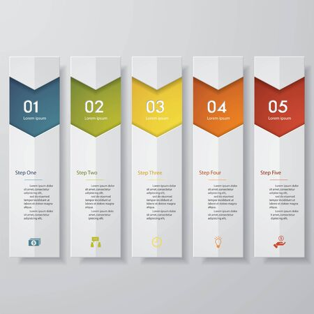 website layout: Design clean number banners templategraphic or website layout. Vector.