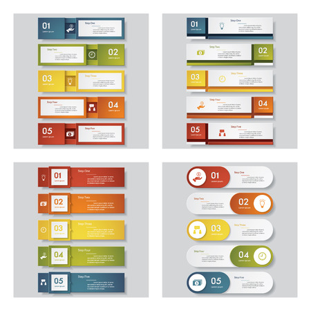 Collection of 4 design templategraphic or website layout. Vector Background. For your idea and presentation.