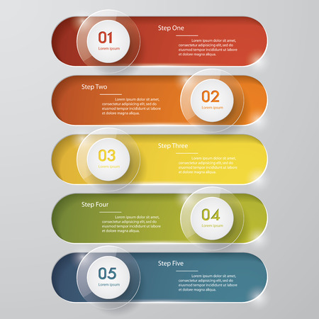 navigation buttons: Design clean number banners templategraphic or website layout. Vector.