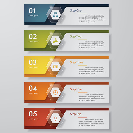 Design clean number banners template/graphic or website layout. Vector. Фото со стока - 38959491