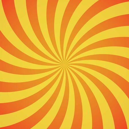 burst background: red-yellow color swirl burst background. Vector illustration
