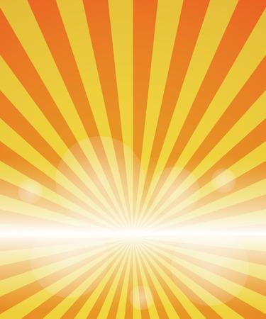 burst background: red-yellow color burst background. Vector illustration