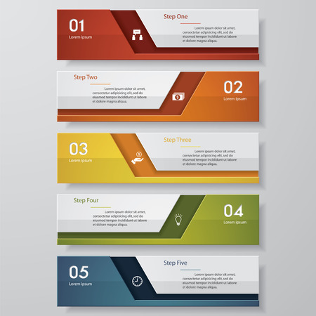 Design clean number banners templategraphic or website layout. Vector. Vector