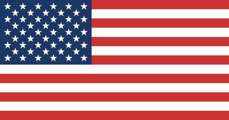 Drapeau américain. État-Unis d'Amérique Drapeau. Vector Illustration. Vecteurs
