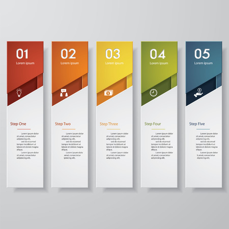 Design clean number banners templategraphic or website layout. Vector