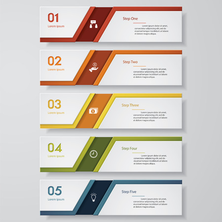 versions: Design clean number banners templategraphic or website layout. Vector
