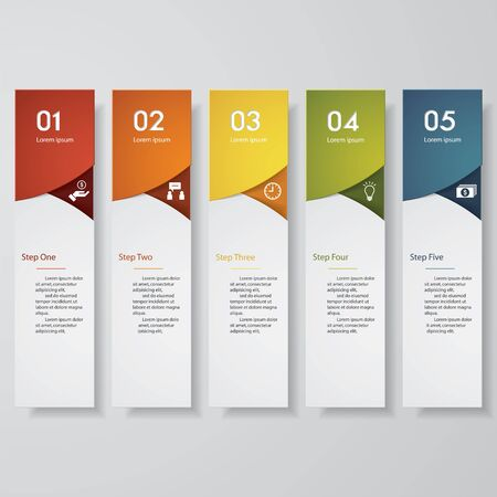 beat brochure: Design clean number banners templategraphic or website layout. Vector.