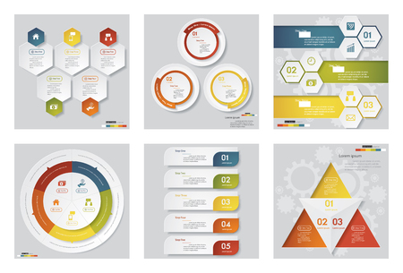Collection of 6 design templategraphic or website layout. Vector Background. For your idea and presentation.