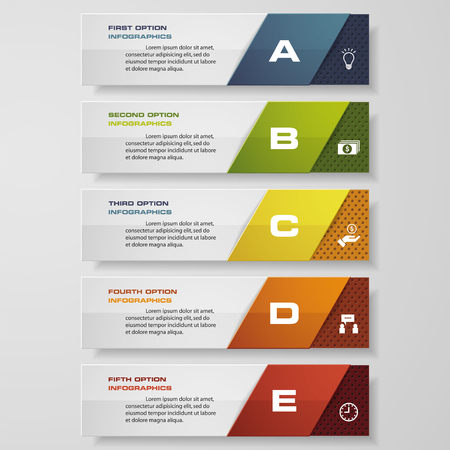 Ontwerp schoon aantal banners templategraphic of website layout. Vector. Stock Illustratie