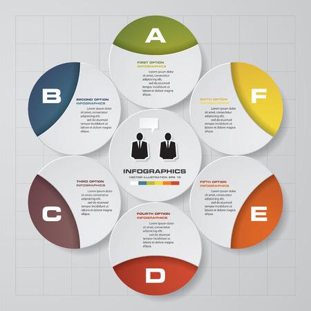 Modern Design Layout for Presentation. 6 Steps. EPS10. Illustration