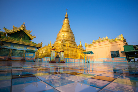 shin: Soon Oo Ponya Shin Pagoda , Sagaing, Mandalay , Myanmar. Stock Photo