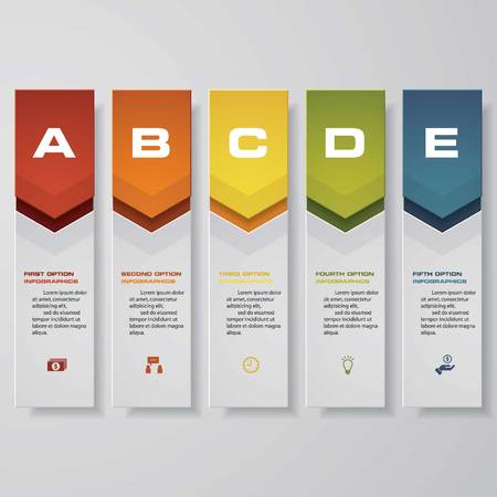triangle pattern: Design clean number banners templategraphic or website layout. Vector.