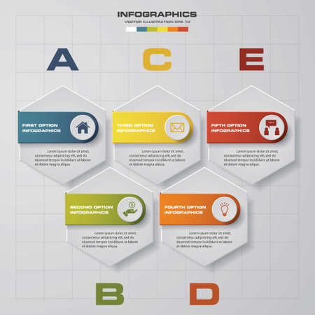 beat brochure: 5 steps chart layout for sample text&data. Design clean templategraphic or website layout.