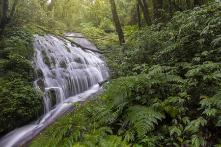 Lan Sadej Waterfal at Doi Inthanon National Park in rainy season, Chiangmai, Thailand.