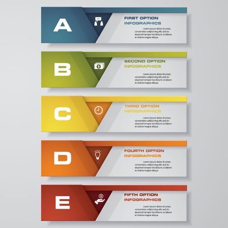 version: Design clean number banners templategraphic or website layout. Vector.
