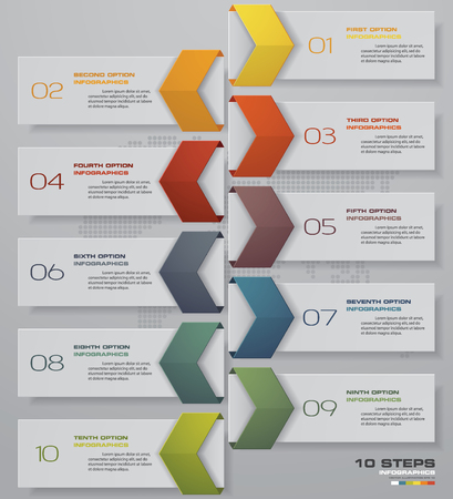 10 steps of timeline Infographic template. for your presentation. EPS 10. Foto de archivo - 102943040