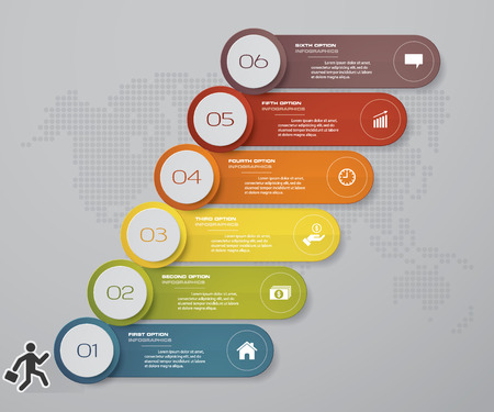 6 steps of timeline Infographic template. for your presentation. EPS 10.