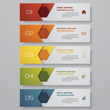 Diseño de plantilla de banners de números limpios. Vector. Ilustración de vector