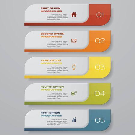 Diseño de plantilla de banners de números limpios. Vector.