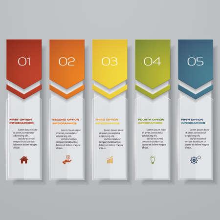 Design clean number banners template. Vector. EPS 10. Иллюстрация