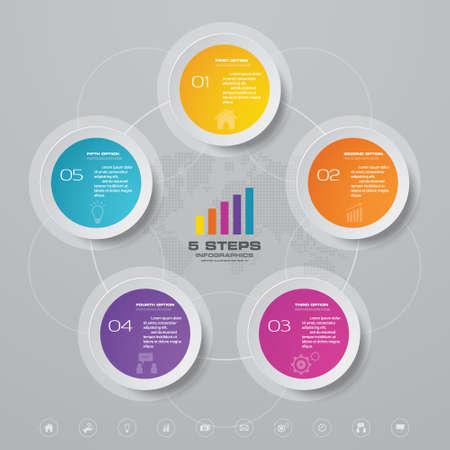 10 steps infographics chart design element. For data presentation. Иллюстрация