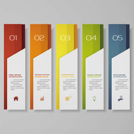 Design clean number banners template.