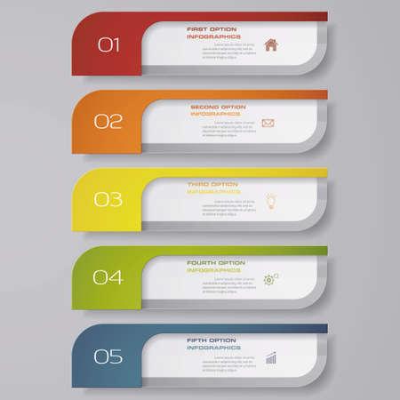 Design clean number banners template. Vector. EPS 10. Vecteurs