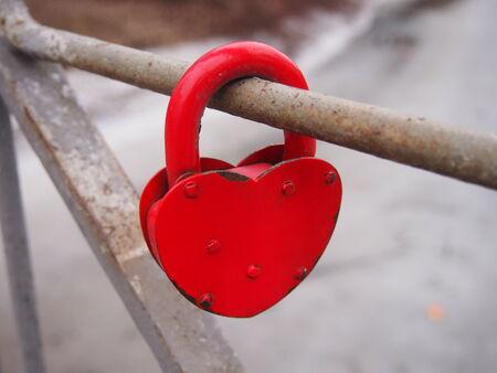 Red Heart-Shaped Lock photo