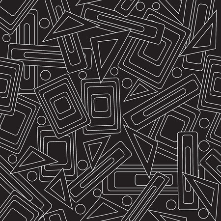 scaled: Magic geometry. Black and white stylish seamless pattern. (Can be repeated and scaled in any size) Illustration
