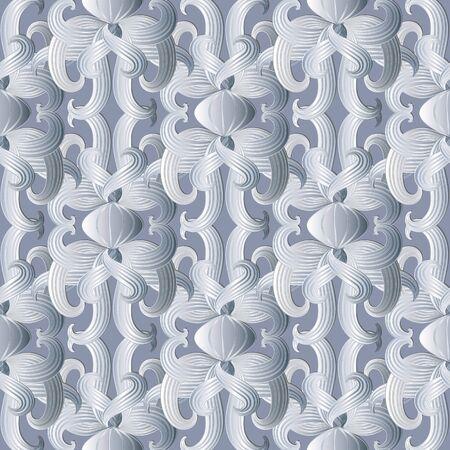 Patrón transparente floral vector blanco Adornos abstractos vintage dibujados a mano. Diseño para telas, papeles pintados, estampados, textil. Textura de superficie. Línea arte tracería doodle flores, hojas rayadas.