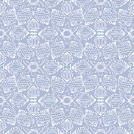 Light blue greek seamless pattern. Illustration