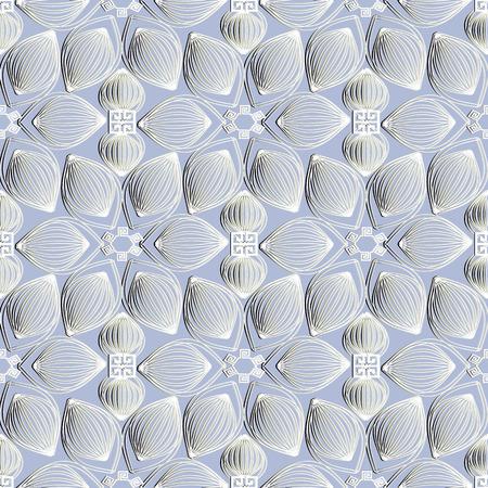 Floral textured seamless pattern. Illustration