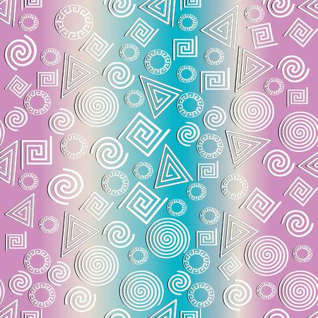 Greek geometric textured seamless pattern. Illustration