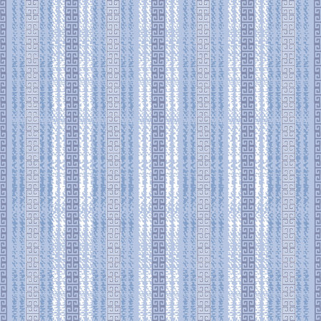 Greek striped seamless border pattern. Illustration