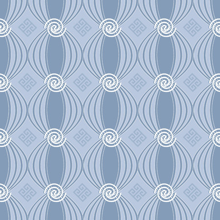 Greek spiral seamless pattern. Stock Photo