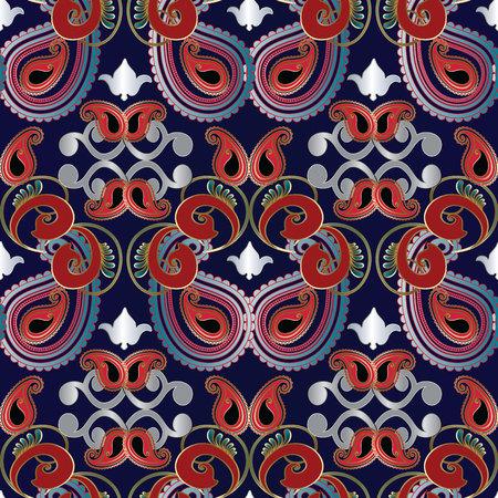 Paisleys seamless pattern. Illusztráció