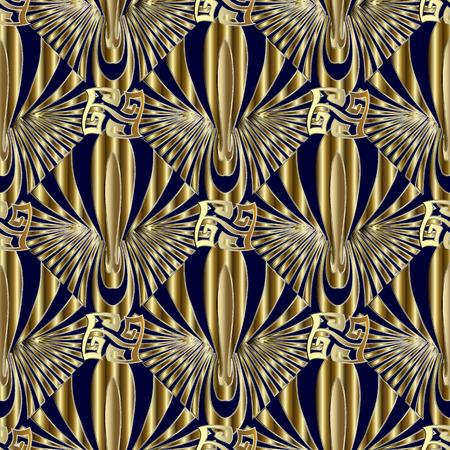 Modern geometric greek seamless pattern.