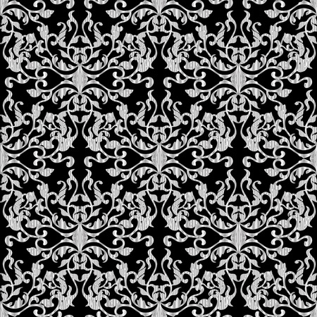 Baroque seamless pattern. Ornate textured ornaments. Vectores